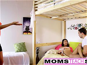 MomsTeachSex - mummy And daughter have fun With daddy Gone