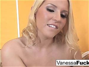 Vanessa cage does a sexy foot fetish video