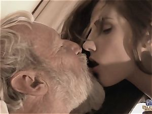 Therapy with aged manstick for a sick nubile damsel