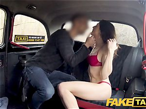 fake cab hard drilling rocks cab taxi with tight vagina