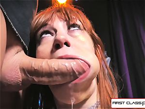 first Class pov - Alexa Nova blowing a yam-sized shaft in point of view