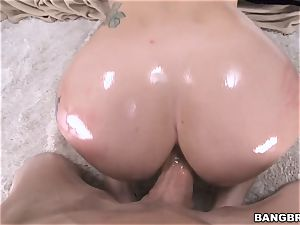 hefty culo black-haired Mandy Muse railing prick