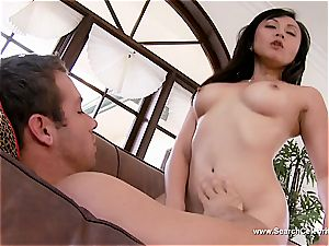 cool Christine Nguyen outside getting her muff munched