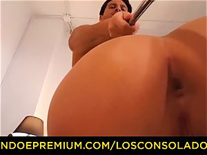 LOS CONSOLADORES dirty blondes have insane 3some intercourse