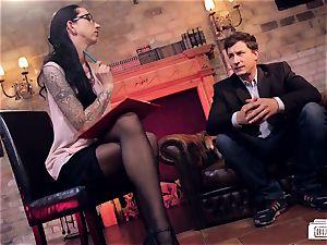 butts Buero - sloppy German cougar boss drills her employee