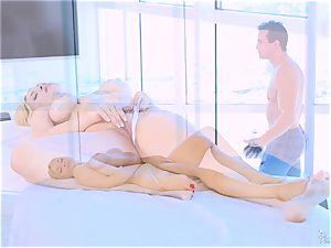 Roasting super-fucking-hot ash-blonde Sarah Vandella loves to orb pulverize