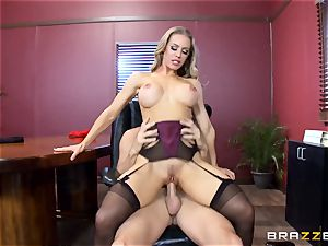 hot boss Nicole Aniston taking a yam-sized stiffy in the office