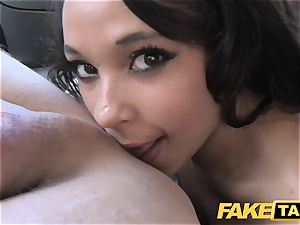 faux taxi black-haired bj's ravages and takes it in the backside