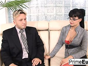 Aletta Ocean gets anally penetrated on the bed