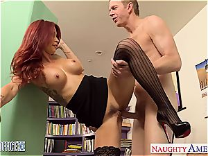 sandy-haired babe Monique Alexander pulverize in office