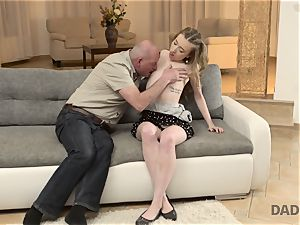 DADDY4K. fuck-fest of dad and young damsel completes with sudden internal cumshot