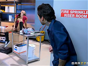 fleshy college girl Abigail Mac plows in the janitors apartment