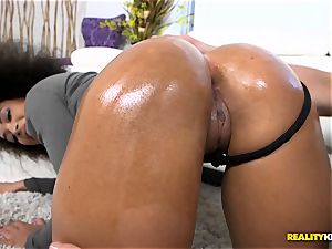 super hot black arse greased up and torn up nut deep - Ava Sanchez