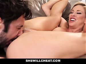 SheWillCheat hotwife wife Gags on man-meat