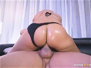 Bridgette B wedged in her taut bootie