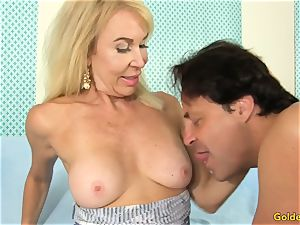 granny Takes a man-meat in Her Cakehole