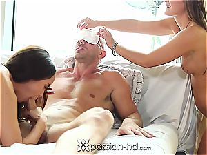 DiIlion Harper and Abby Cross sharing Johnny Sins