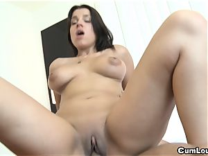 ultra-kinky Angel Rivas blows a fat fuckpole then gets drilled