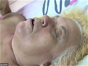 OldNanny grannie and mature drained furry labia