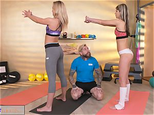 sport rooms insatiable nymphs entice yam-sized manstick gym trainer