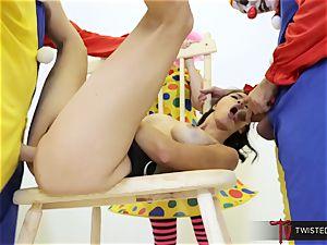 Dana Vespoli boned by creepy big trouser snake clowns