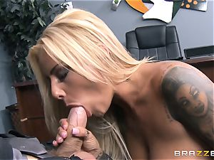 Britney Shannon pounds her antsy boss in his office