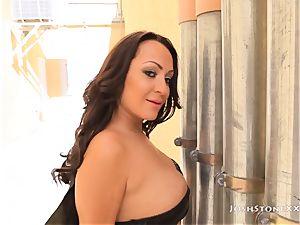hefty ass Latina Vanessa Luna rails A immense black weenie
